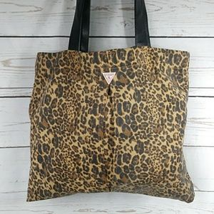 Guess Leopard Print Canvas Tote or Shopping Bag